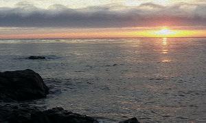 Moonstone Beach Sunset in oil