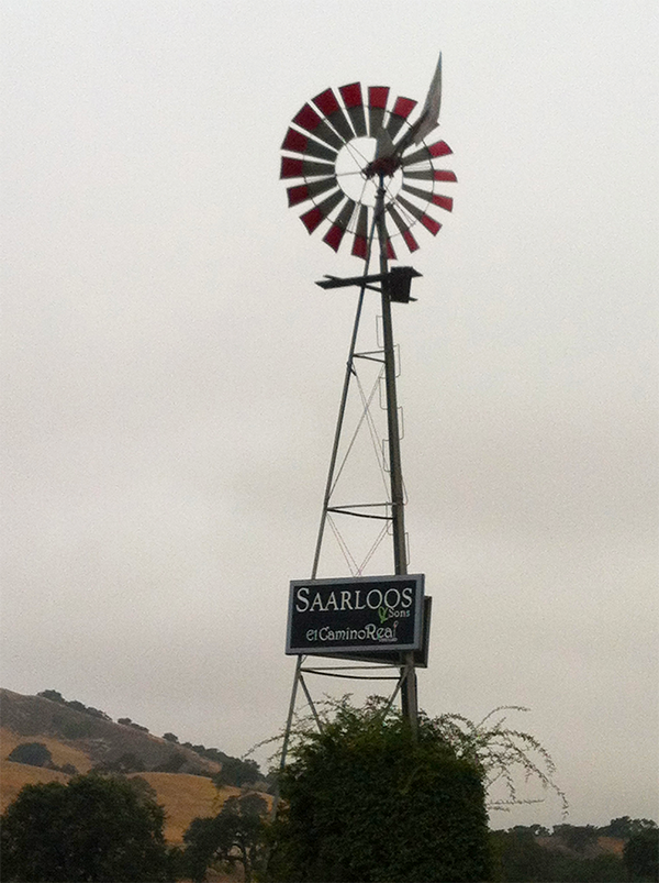 Windmill on Saarloos & Son's Windmill Ranch Vineyard