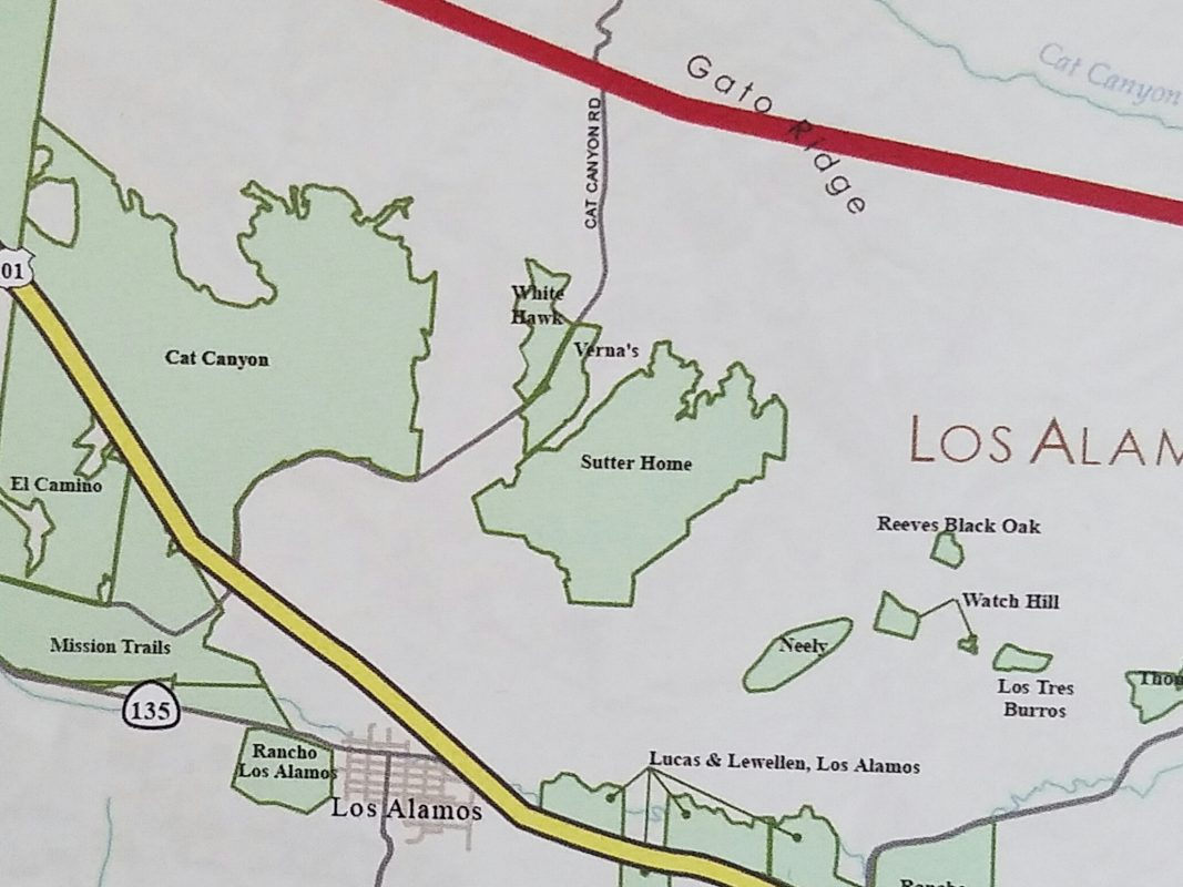 White Hawk Vineyard on the Santa Barbara Vintners Viticultural Map.