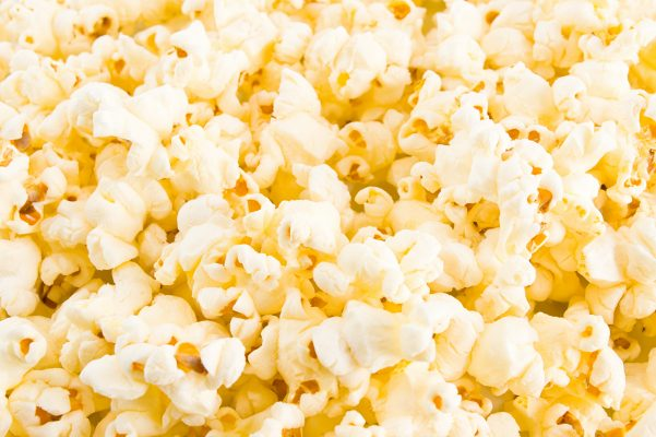 Buttered Popcorn or Potato chips are a great pairing for sparkling wines.