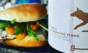Cab Franc and Burger