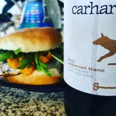 Cab Franc and Burger
