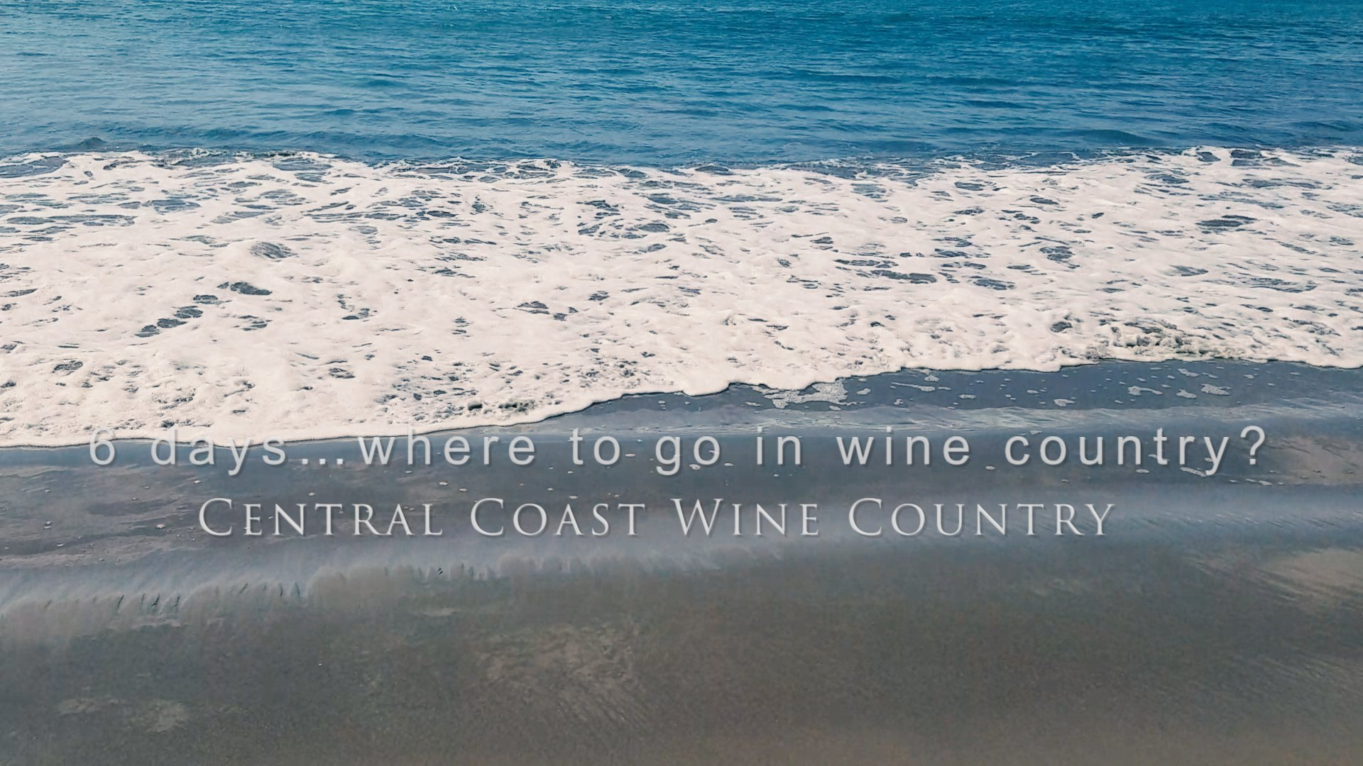 6 days…where to go in wine country? Well if you have a Prius and can get to California fairly easily, you don't have to choose. Join us on our journey through California's Central Coast Wine Country and a little beyond.