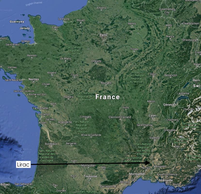 Lirac in France