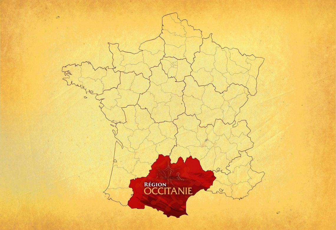 Occitanie Region of France map