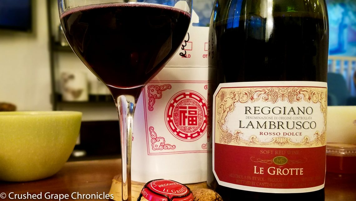 Lambrusco and Chinese Takeout with