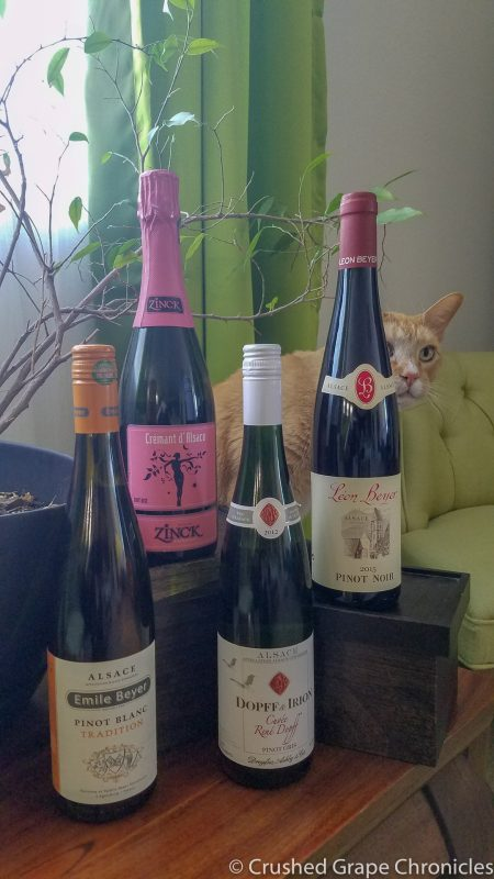 Pinots from Alsace; Pinot Blanc, Pinot Gris, Pinot Noir and Crémant d'Alsace
