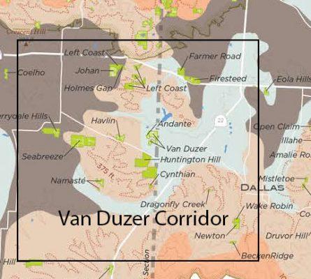 General Area of the proposed Van Duzer Corridor AVA