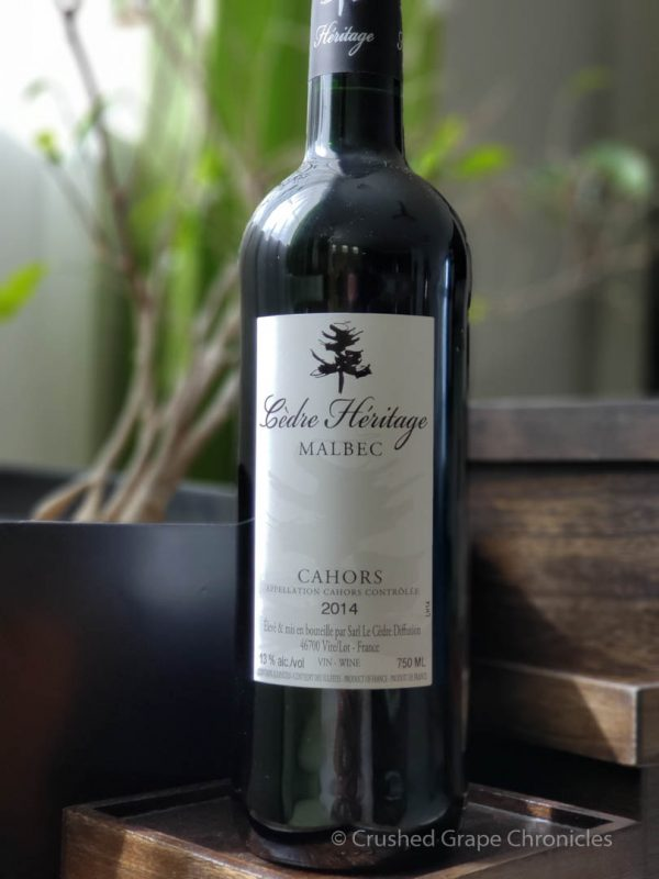 Cedrè Heritage 2014 Malbec from Cahors