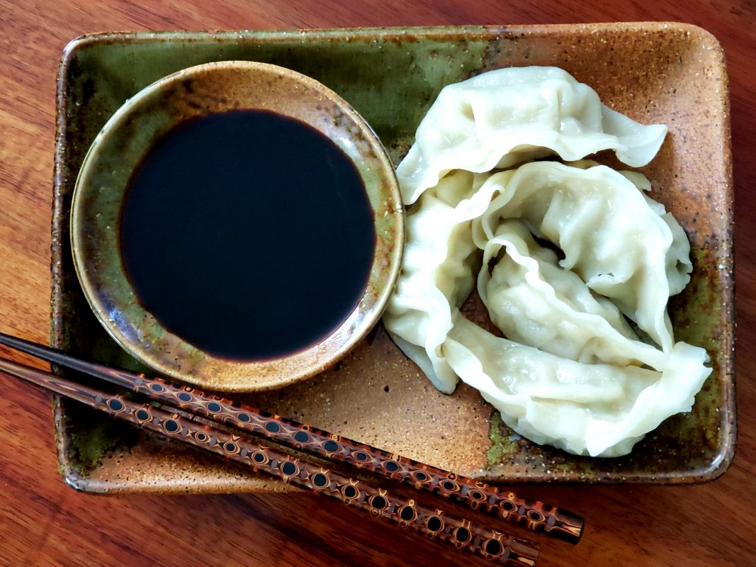 Potstickers and soy