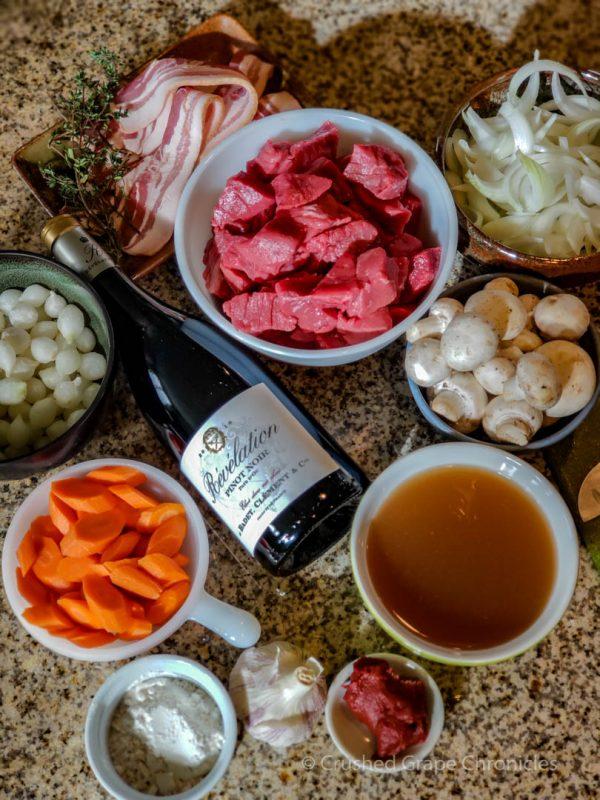 Boeuf Bourguignon ingredients