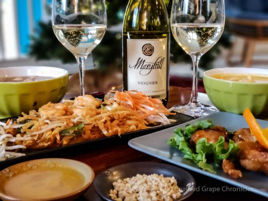 Maryhill Viognier With Thai Food