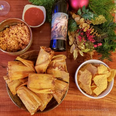 Libertine Riesling with Tamales