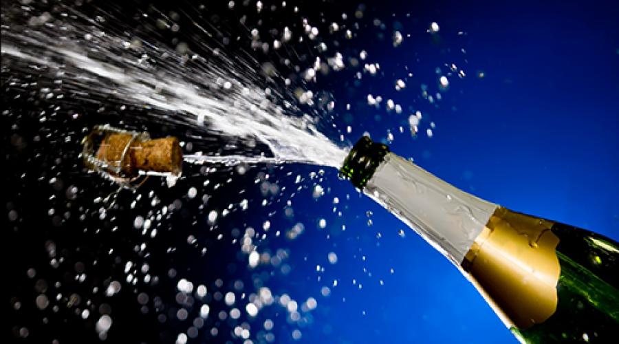 Champagne-splash