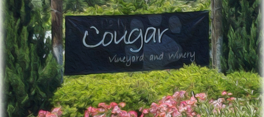 Cougar Winery sign