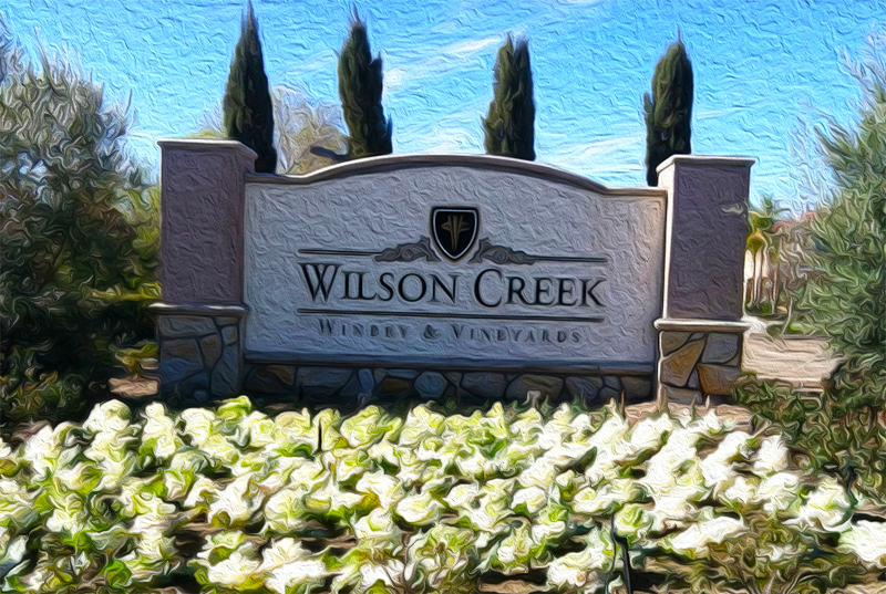 Wilson Creek Sign Art in Oil