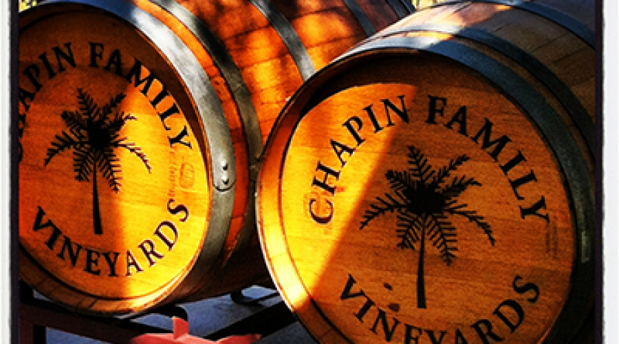 Chapin barrels on Porch