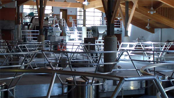 Gravity flow wineries, a great example with Halter Ranch Wine Making Facility