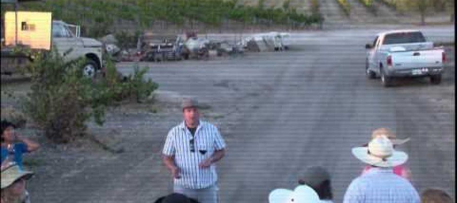 Tablas Creek Wine Walk with then viticulturist Levi Glenn, 2013