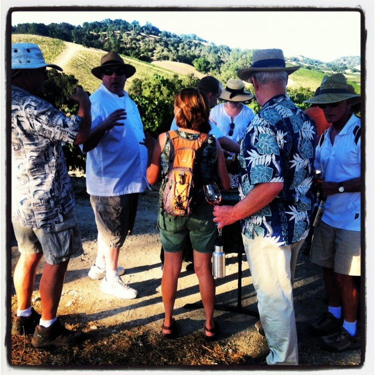 Tablas Creek Wine Walk with Chef Jeff Scott 2013