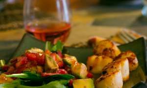 Strawberry Avocado Salad with Presqu'ile Rosé