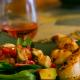 Presqu'ile Rosé of Pinot Noir and a Strawberry, Citrus and Avocado Salad.