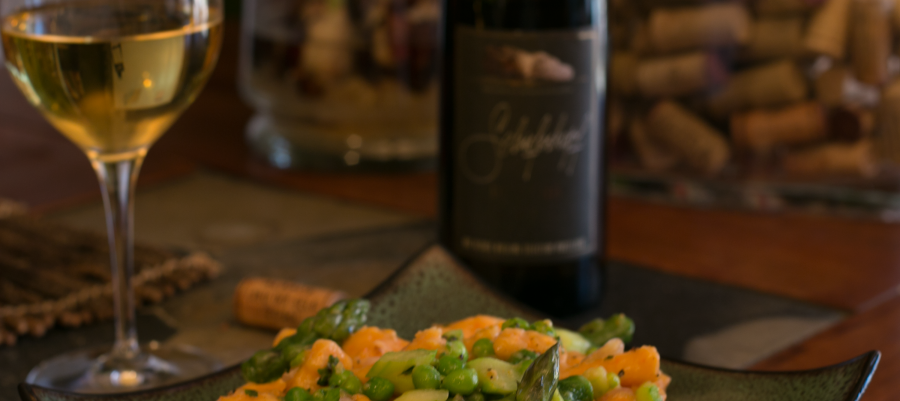 Sweet Potato Gnocchi paired with Alsace Riesling