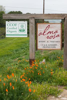 Alma Rosa Vineyard Sign