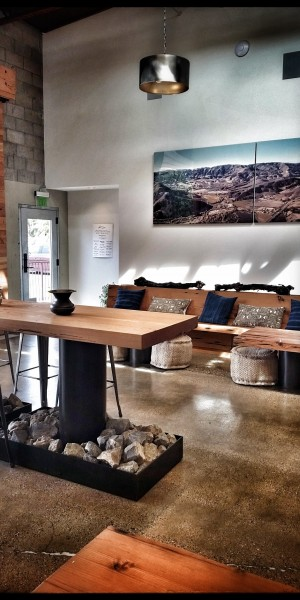 The Beautiful Tasting Room at Alma Rosa in Buellton
