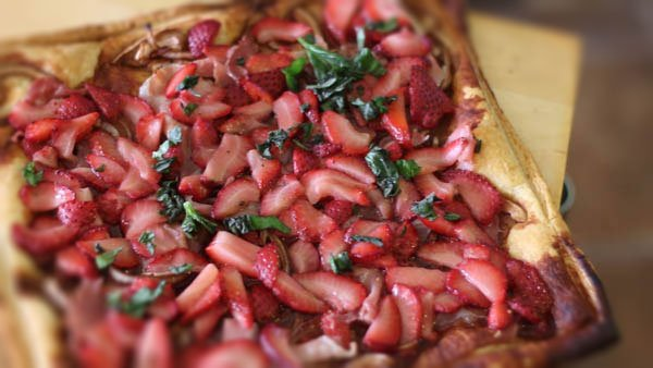Strawberry & Onion Balsamic Tart