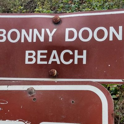 Bonny Doon Beach Sign