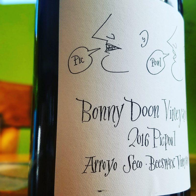 Bonny Doon Vineyard 2016 Picpoul Arroyo Seco Beeswax Vineyard