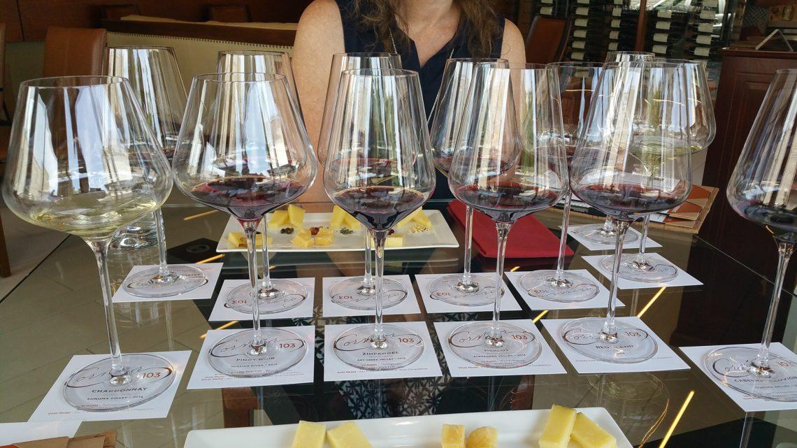 Corner 103 wine glasses