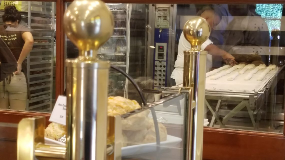 Baker at work at Bouchon Bakery Yountville