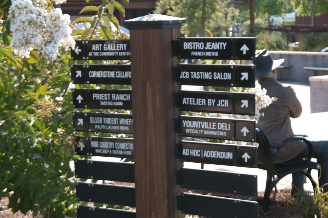 Galleries, Restaurants and Wine Tasting Rooms in Yountville