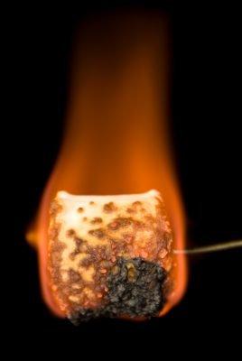 burned marshmallow