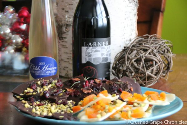 chocolate bark for syrah & Viognier Pairing
