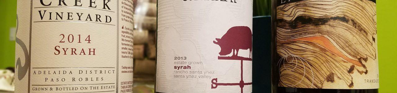 Syrah bottles Tablas Creek Carhartt Larner