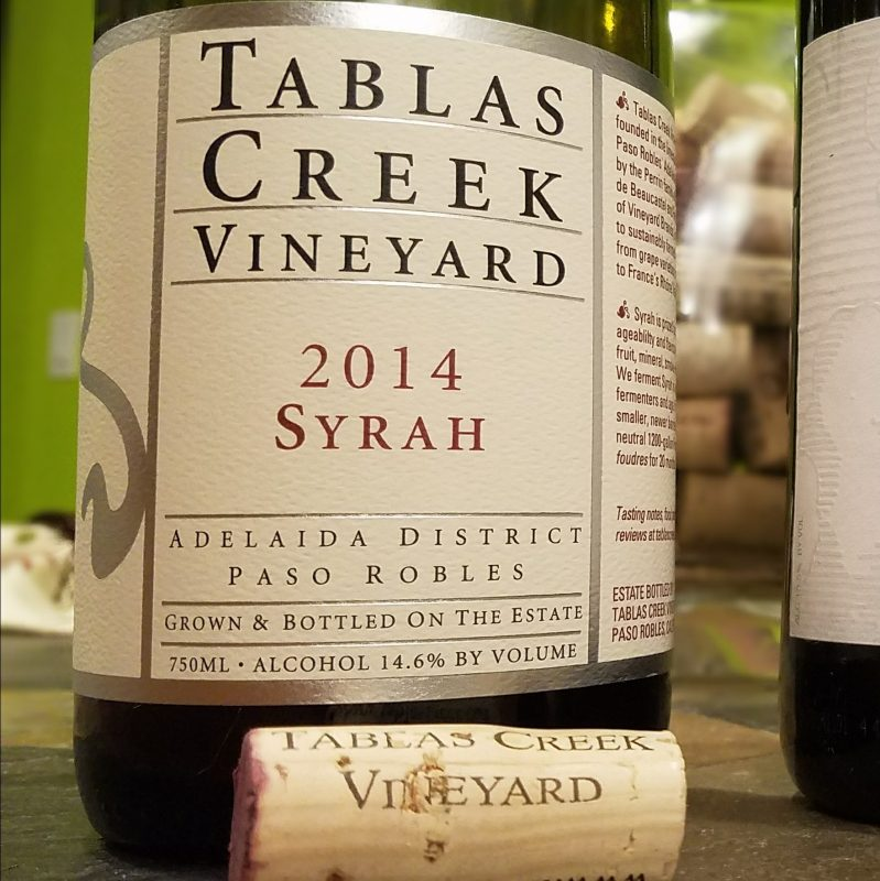 The Tablas Creek Vineyard 2014 Syrah