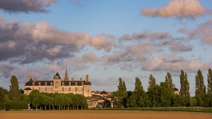 France the renaissance castle of Cadillac in Gironde
