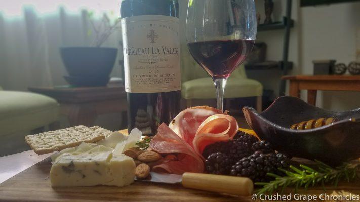 Blaye Côtes de Bordeaux and a cheese platter