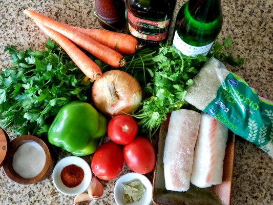 Ingredients for Arroz with Cod loins