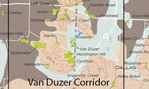 General Area of the proposed Van Duzer Corridor AVA