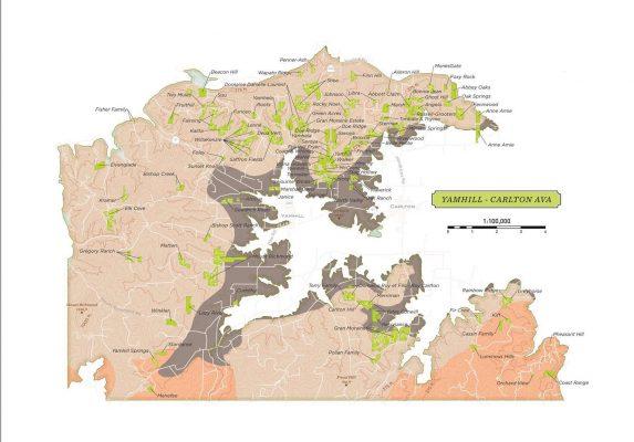 Yamhill-Carlton AVA Map
