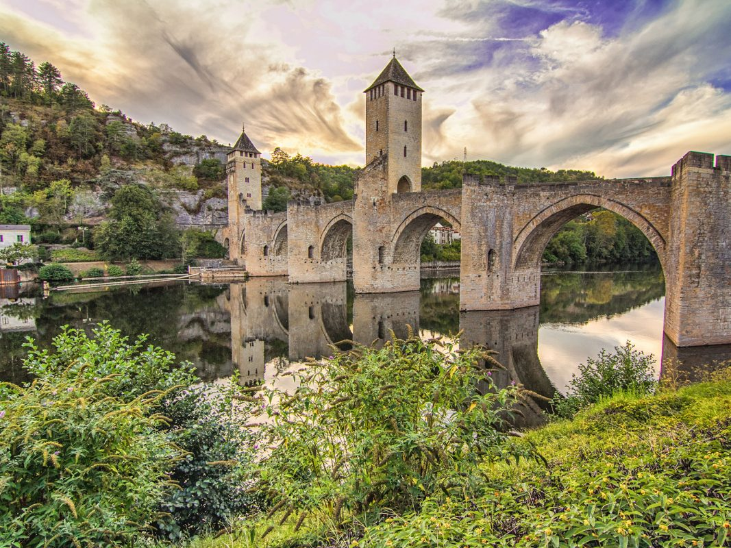 The Pont Valentré in Cahors France