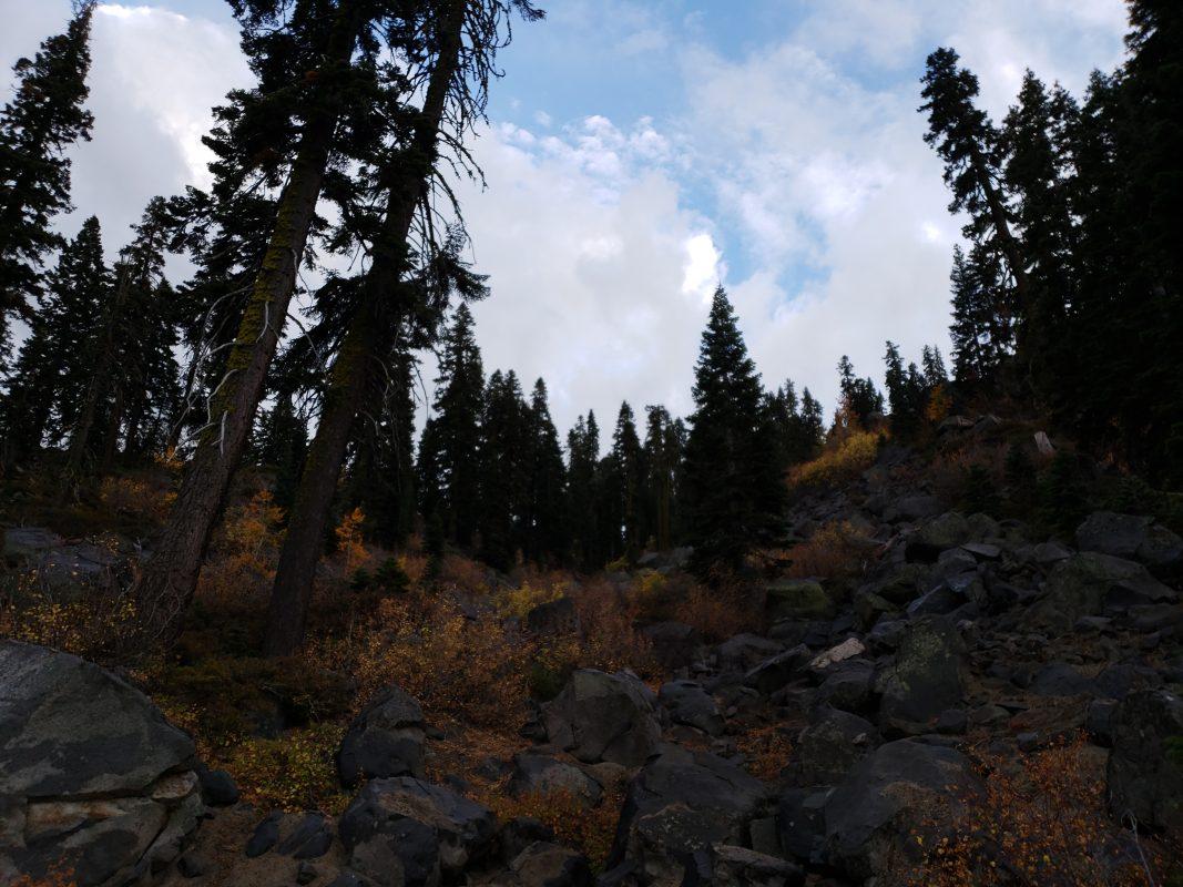 Leaving Lake Tahoe