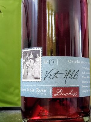 Duchess 2017 Pinot Noir Rosé from Vista Hills