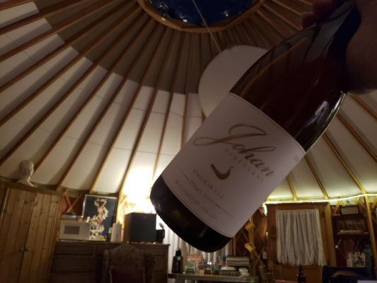 Sunset Yurt and Johnan Wine