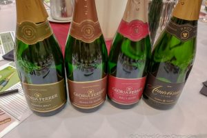 The line up of Bubbles from Gloria Ferrer for the Bubbles and Bites Sparkling Pairing Exploration with Sarah Tracey