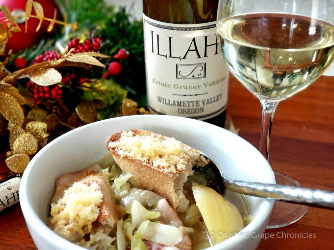 Illahe2017 Estate Gruner Velthiner with Cabbage Soup